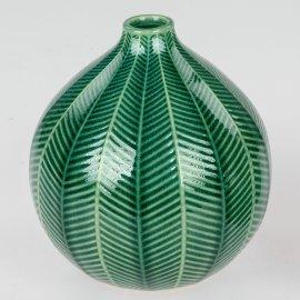 Vase rund 20cm Blatt-grün