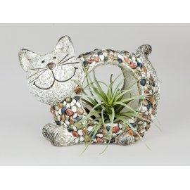 Pflanzgefäß Katze Stones