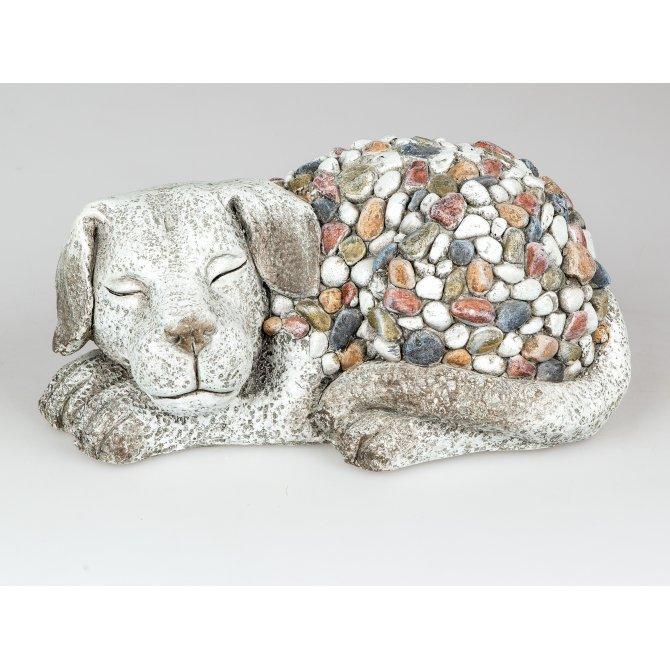 Hund 36x17cm Stones