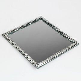 Deko-Tablett 20cm Spiegel-Stones