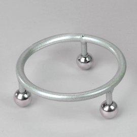 Ständer Ring für Dekokugel 13cm Eisen - silber