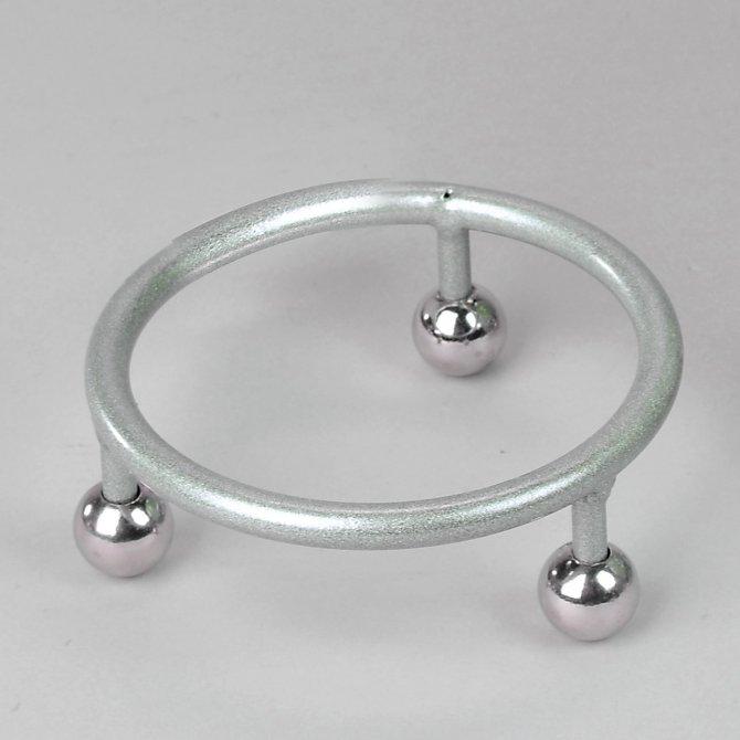 Ständer Ring für Dekokugel 20 Eisen - silber