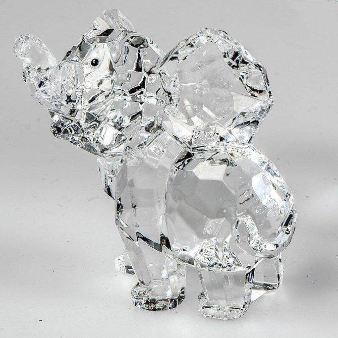 Elefant 10cm Acryl - klar