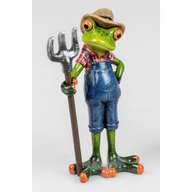 Frosch Bauer mit Mistgabel