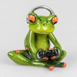 Frosch Gamer mit Headset und Gamepad