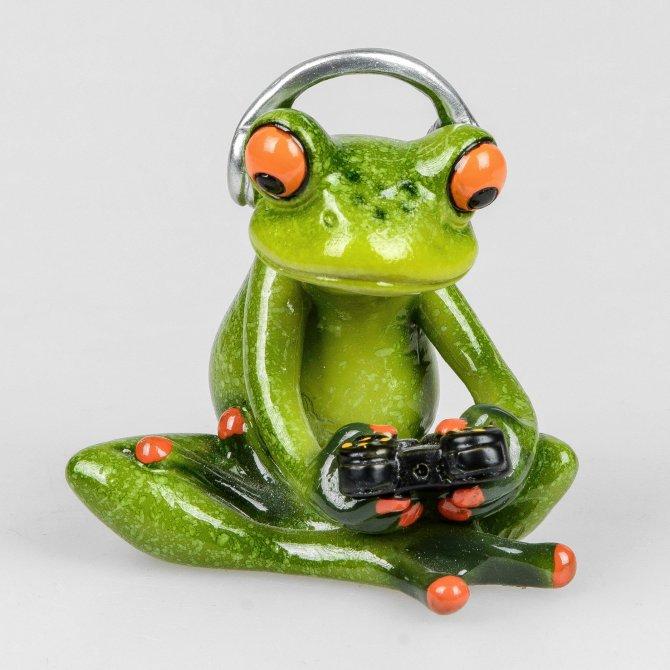 Frosch+Konsole hellgrün