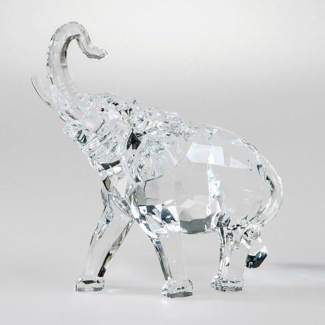 Elefant 18cm Acryl - klar