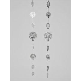 Girlande 116cm Edelstahl-Blätter