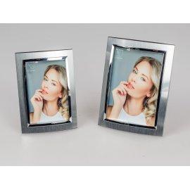 Fotorahmen Silber-Bogen