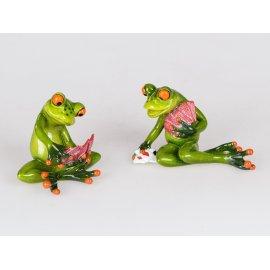 Frosch mit Karten