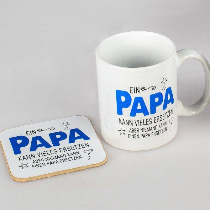 Becher mit Untersetzer Papa