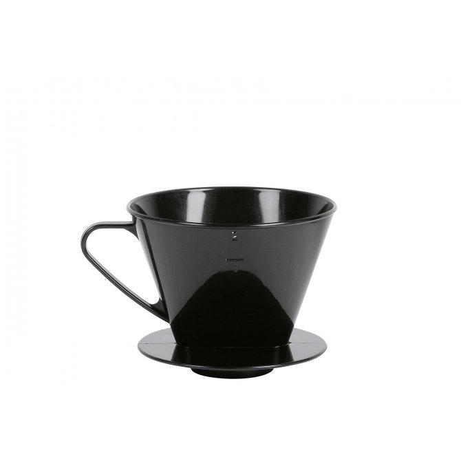 Kaffeehandfilter mit 2 Löchern, Kunststoff WK