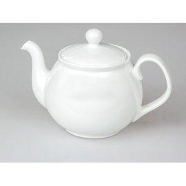 Teekanne 1,2l Porzellan creme-weiß