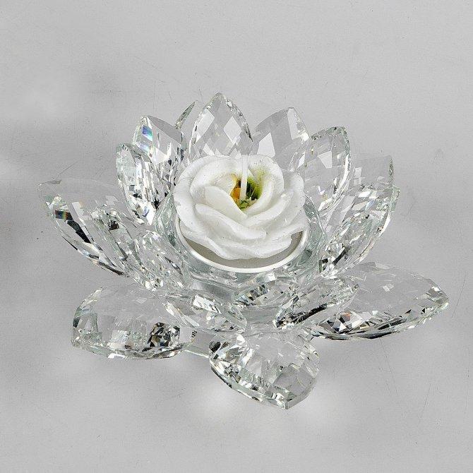 Leuchter Lotus-Kristall