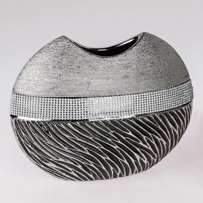 Vase bauchig Magic-silber