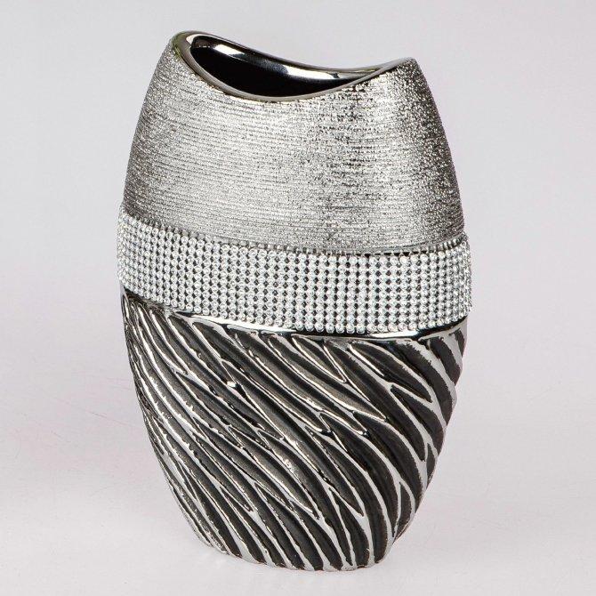 Vase hoch Magic-silber