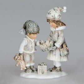 Kinderpaar 13cm Klassik Kind mit Teddy