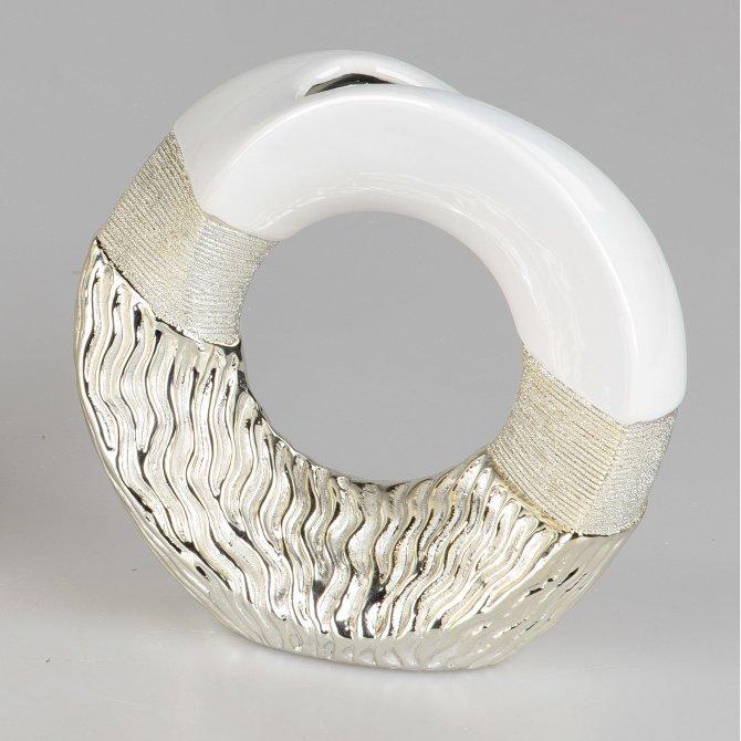 Vase rund Waves-gold
