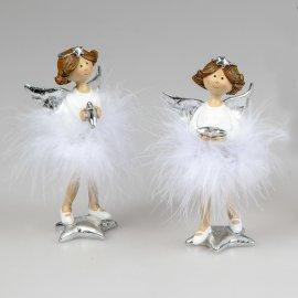 Engel mit Federn 15cm Ballerina