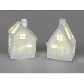 Haus mit LED-Licht 10cm