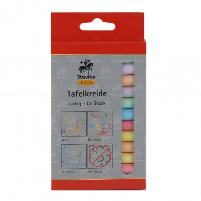 Tafelkreide farbig sortiert 12er