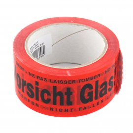 Signalklebeband 50mm 60m Vorsicht Glas