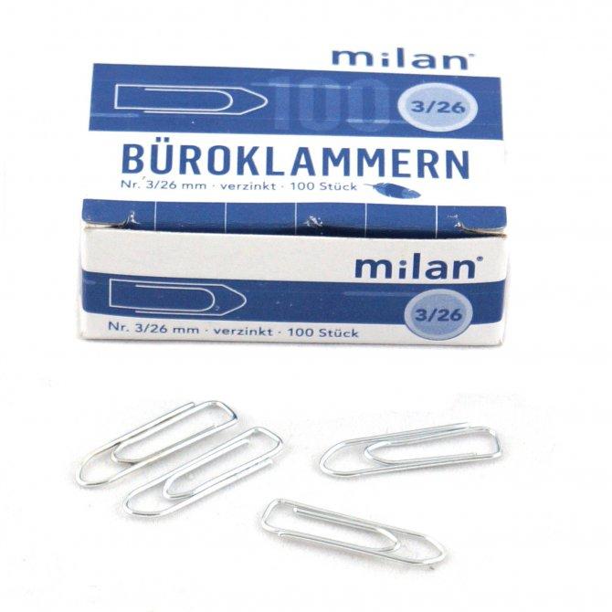Briefklammer Milan 26mm