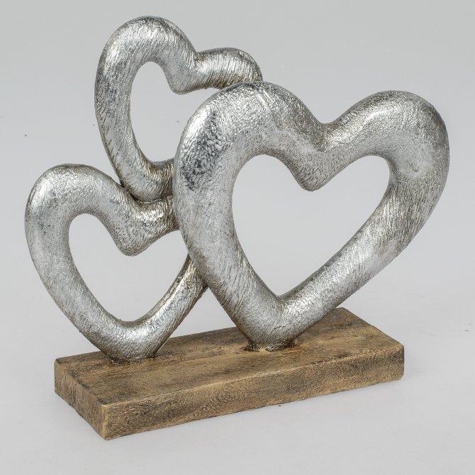 Deko-Herz Antik-Silber 28cm