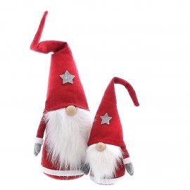 Textildeko Santa mit Stern