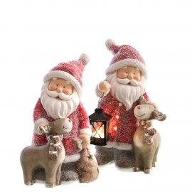 Santa mit Elch 38,5cm