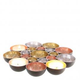 Teelichthalter pink/gold/silber 21cm