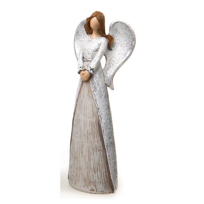 Engel grau-silber abstrakt 15cm