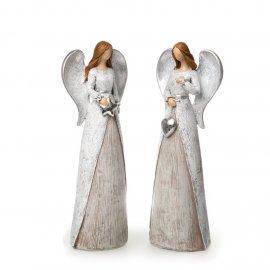 Engel grau-silber abstrakt 21cm