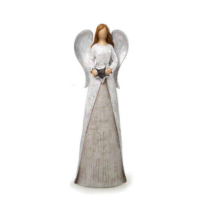 Engel grau-silber abstrakt 28cm