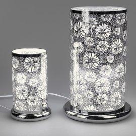 Lampe Blume mit Punkten mit Touch-Bedienung