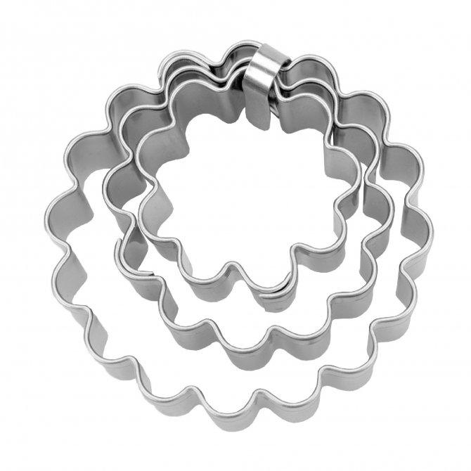 Terassen-Austsecher 3tlg Ring gewellt