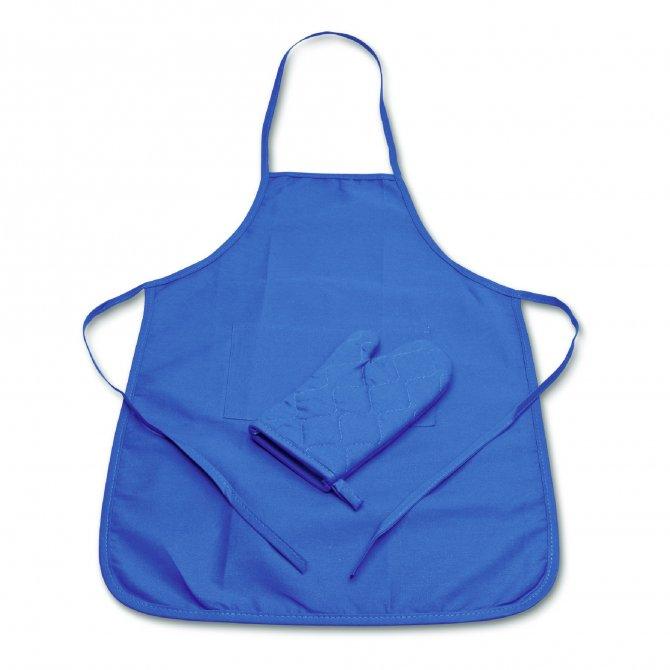 KIDS Schürze und Handschuh - Kleiner Hobbybäcker Blau