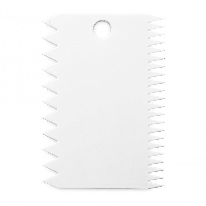 Kammschaber 7,5 x 11 cm Weiß