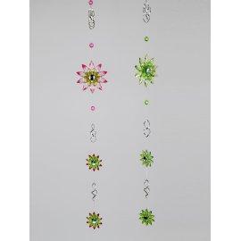Hängedeko Blume Acryl mit Metall 90cm grün-rot