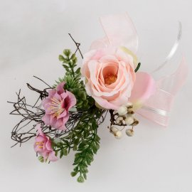 Tischdeko 15cm Rose rosa