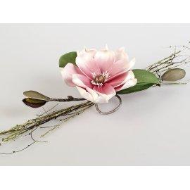 Tischdeko 38cm rosa - weiss
