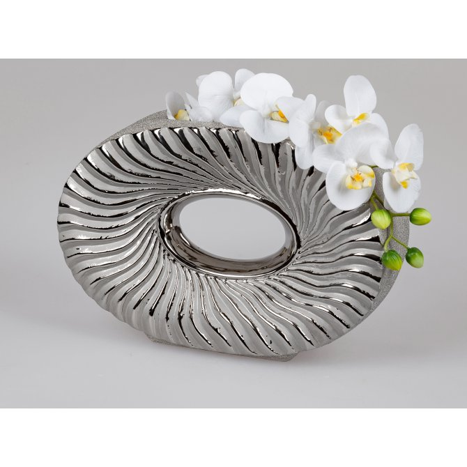 Vase 33x23cm Organic-silber