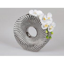 Vase rund 28cm Organic-silber