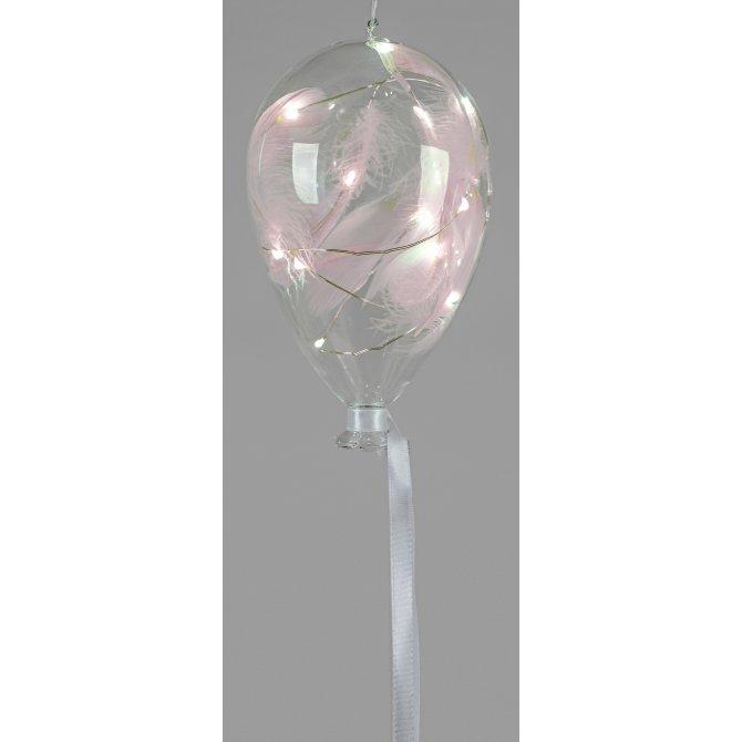 Deko-Ballon mit Federn 16cm LED