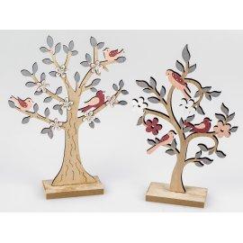 Deko-Baum Holz mit Vogel 30cm