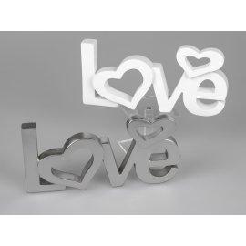 Schriftzug Love mit Herzen 30cm