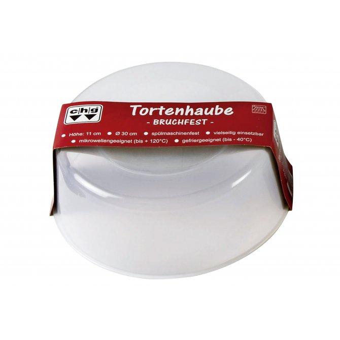 Haube für Tortenplatte bruchfest Kunststoff Ø30cm