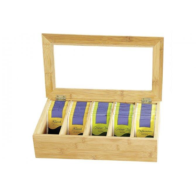 Tee-Box mit Sichtfenster