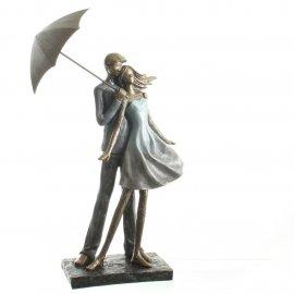 Figur 'Paar' mit Regenschirm 37cm