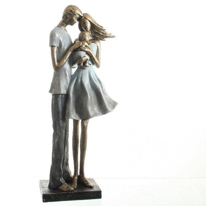 Figur 'Familie' auf Stand 39 cm